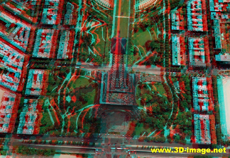 Tip view real 3d photos of paris on www 3d anaglyph com 3d paris