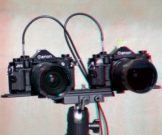 3D image - anaglyph - twin camera