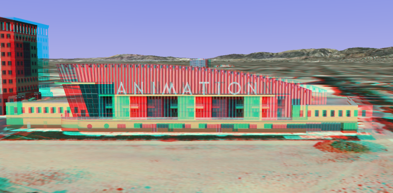Anaglyph walt disney animation studios