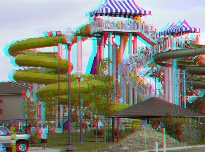 3d image for 3d glasses - 3D-image-water-park