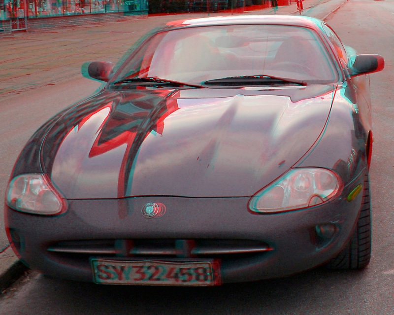 3d image for 3d glasses - black Jaguar-3D_image-anaglyph